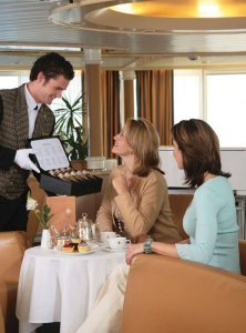 Seabourn-Tea Service in the Observation Lounge