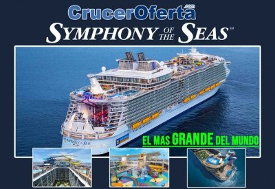 Ofertas Symphony of The Seas Sept/Oct/Nov
