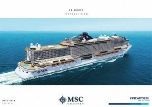 Colocada la primera pieza del MSC Seaside