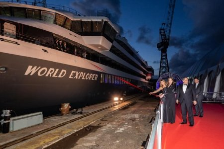 Mystic Cruises bautiza el World Explorer en Portugal